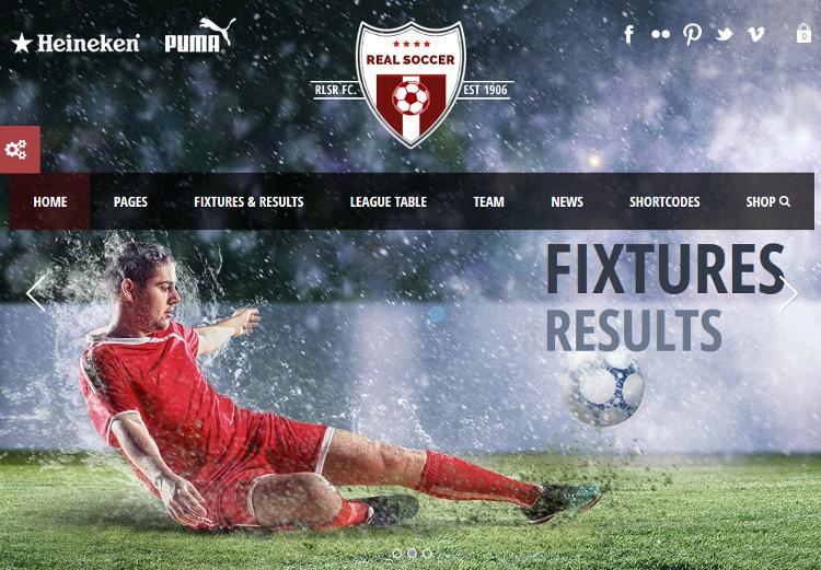 Real Soccer WordPress Theme