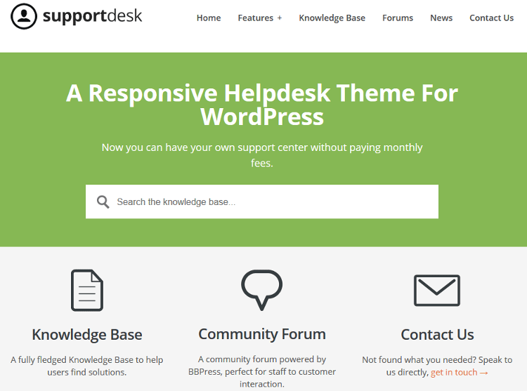 Support Desk WordPress Theme