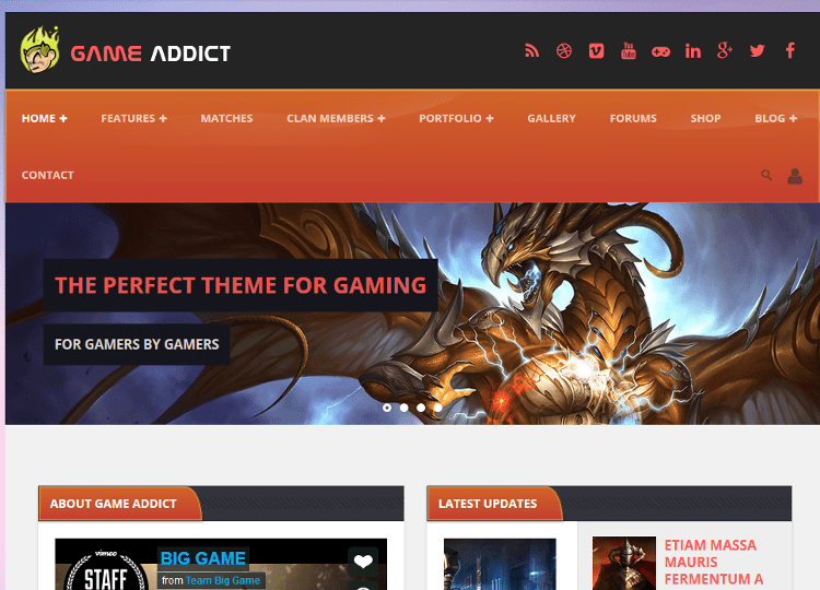 Game Addict WordPress Theme