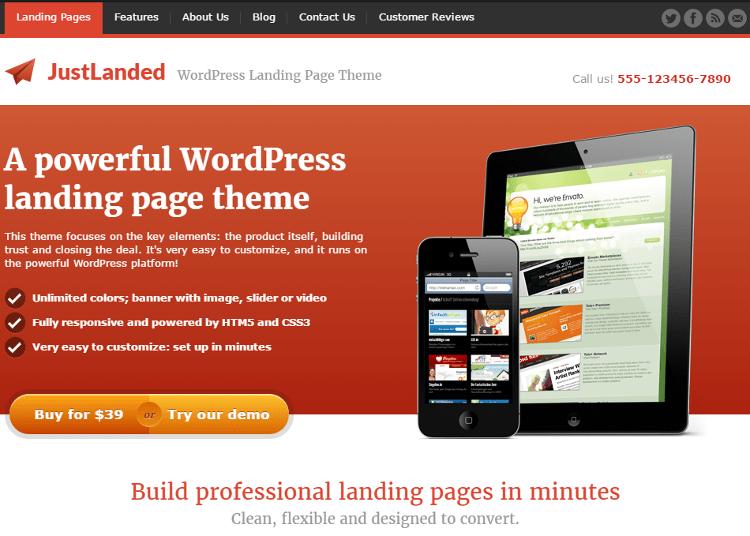 JustLanded WordPress Theme
