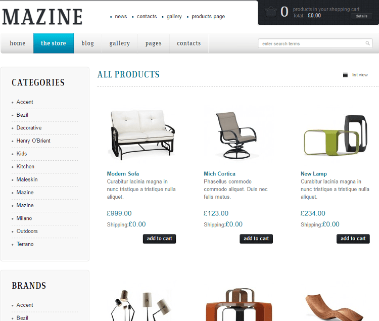 Mazine WordPress Theme