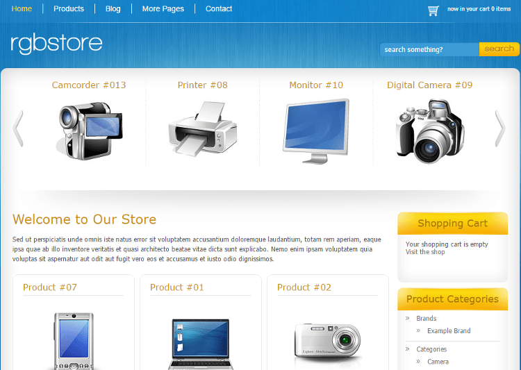 RGBStore WordPress Theme