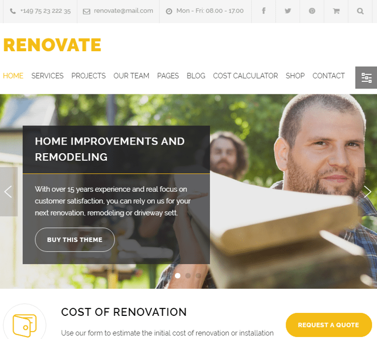 Renovate WordPress Theme