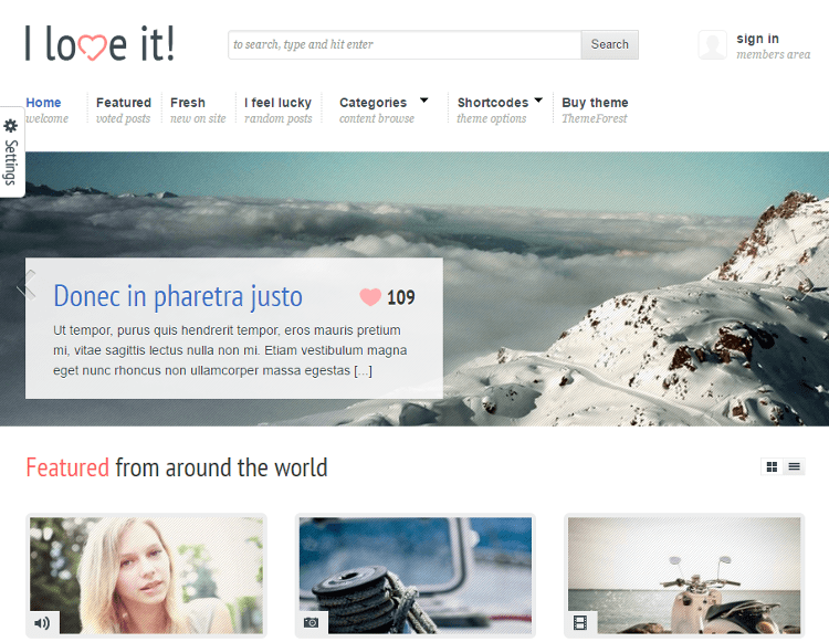 I Love It WordPress Theme