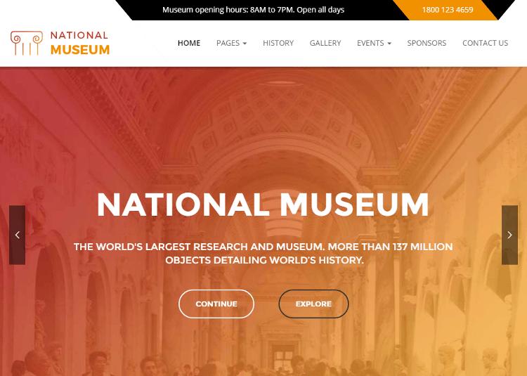 Museum WordPress Theme