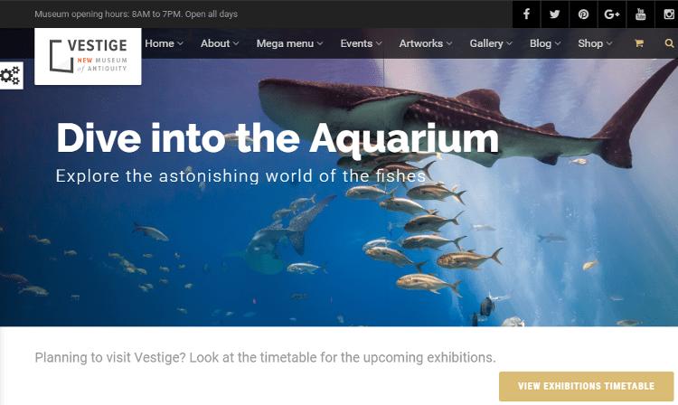 Vestige Museum WordPress Theme