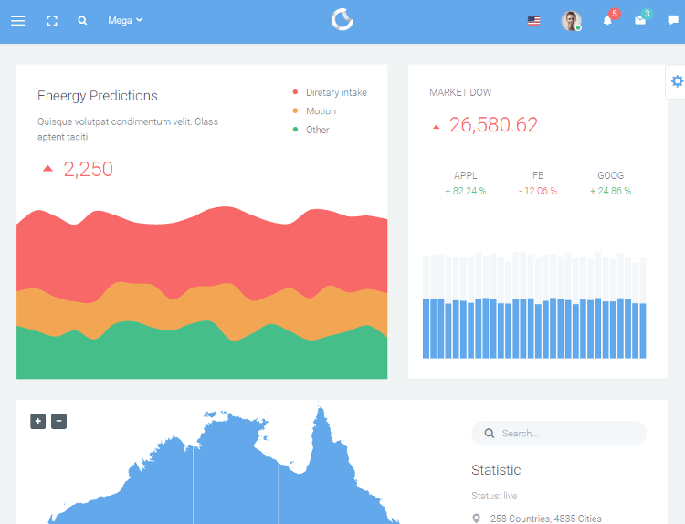 Remark HTML5 Admin Dashboard Template
