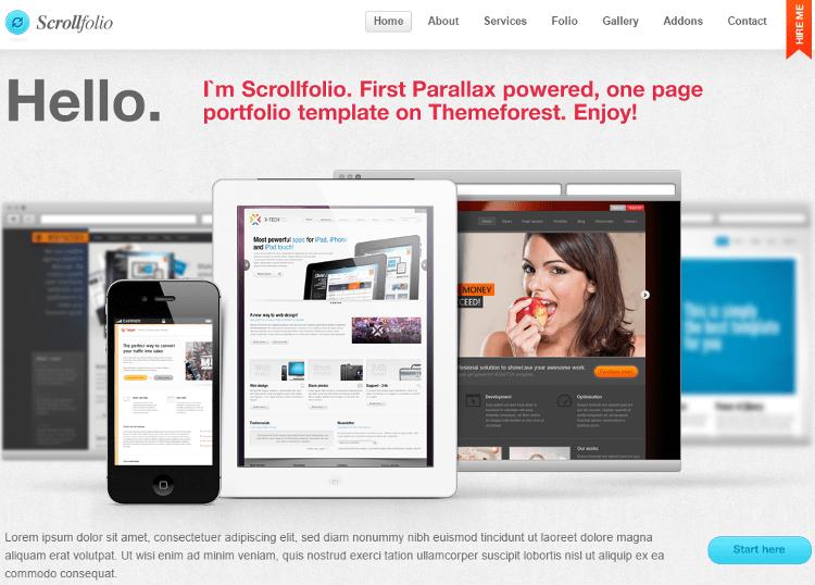 Scrollfolio HTML5 Template