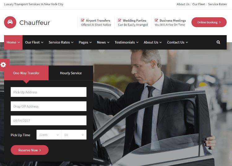 Chauffeur HTML5 Template