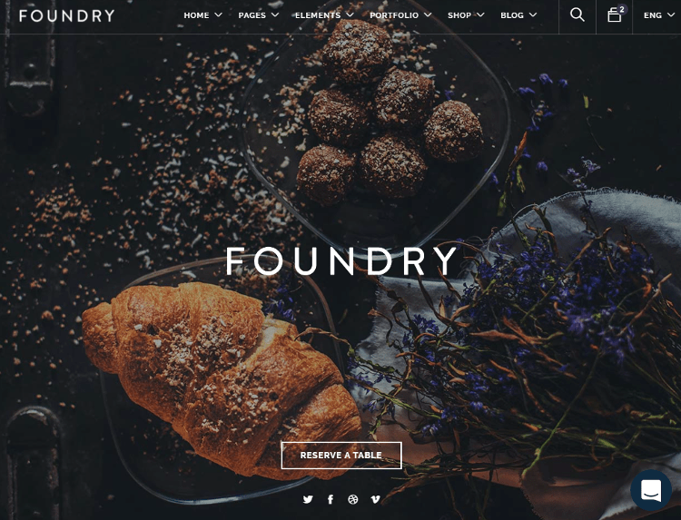 Foundry Restaurant HTML5 Template