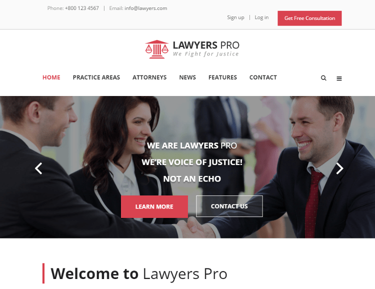 Lawyer Pro HTML5 Template