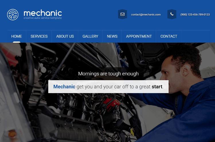 Mechanic HTML5 Template