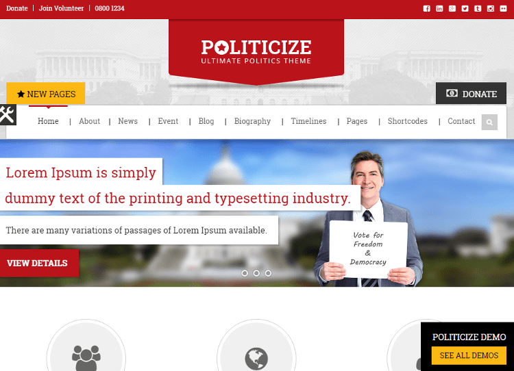 Politicize HTML5 Template