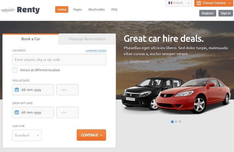 Renty HTML5 Template