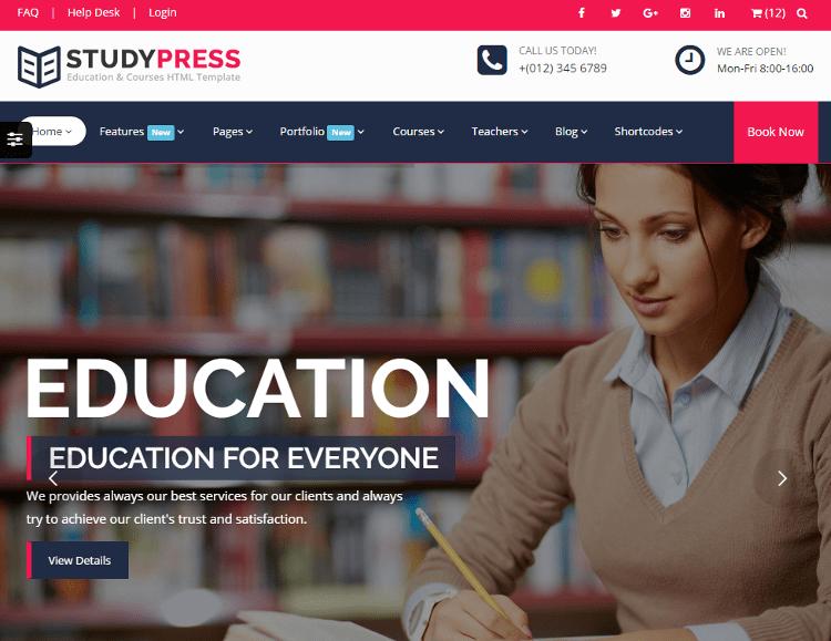 StudyPress HTML5 Template