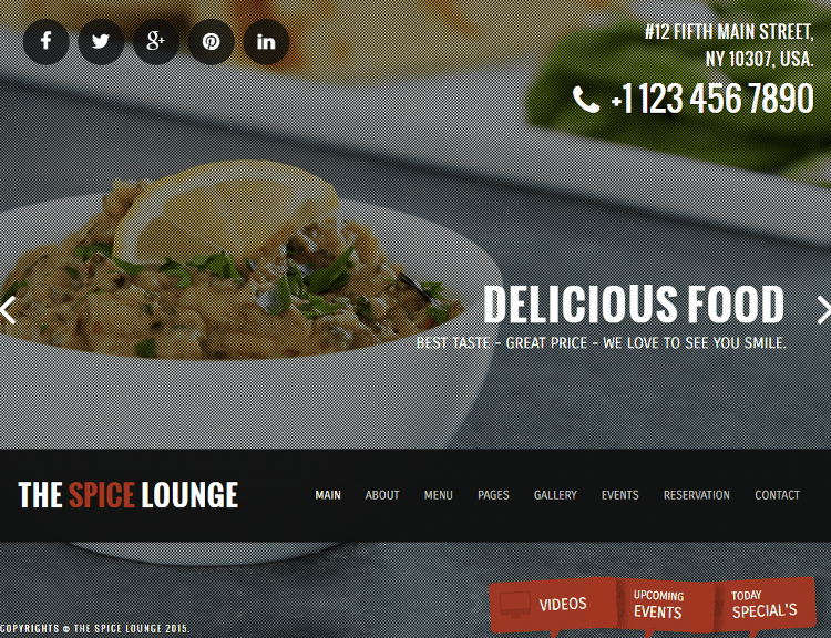 The Spice Lounge HTML5 Template