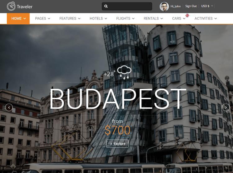 Traveler HTML5 Template