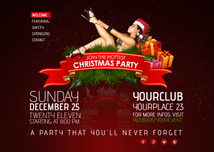 3D Christmas Bash HTML5 Template
