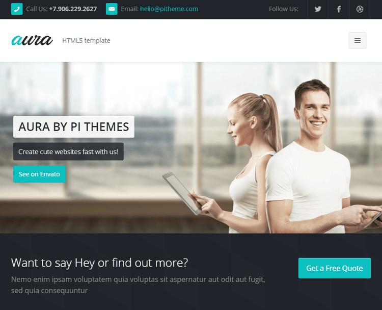 Aura HTML5 Template