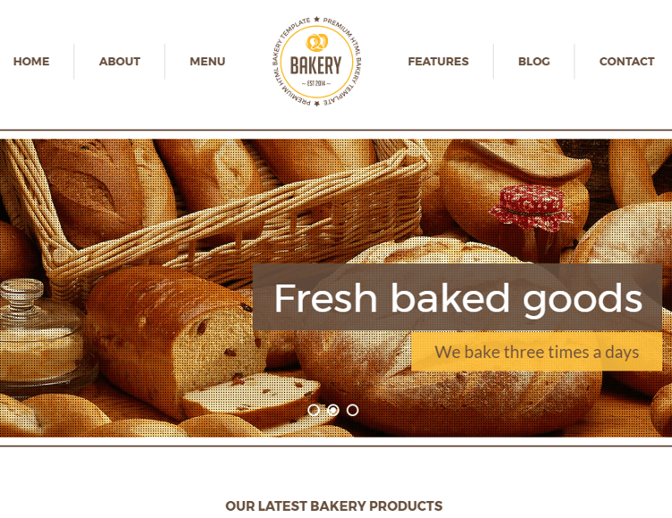 Bakery HTML5 Template