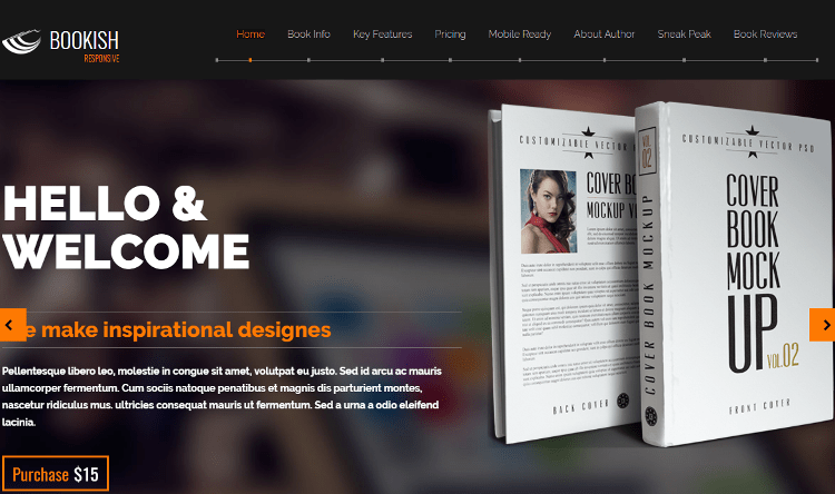 Bookish HTML5 Template