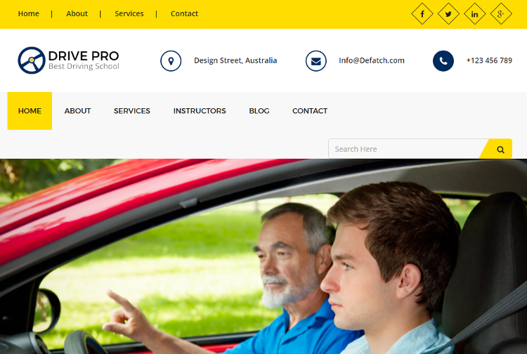 Drive Pro HTML5 Template
