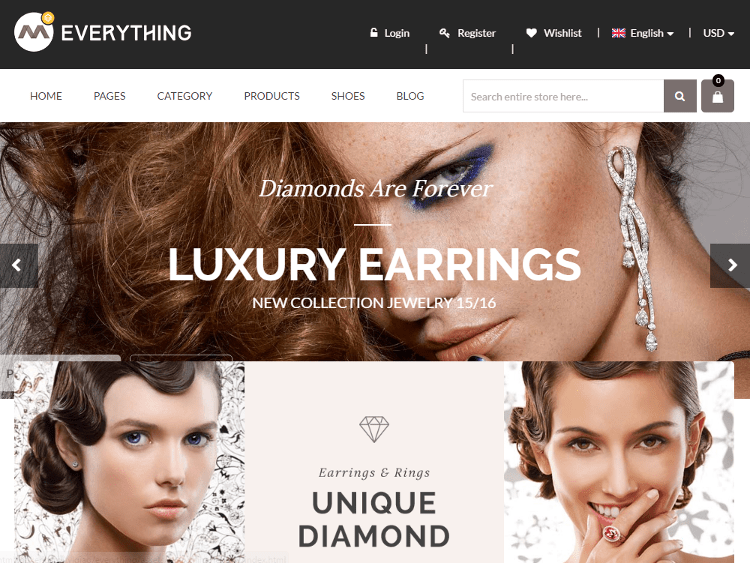 Everything Store Jewelry HTML5 Template