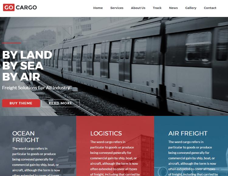 GoCargo HTML5 Template