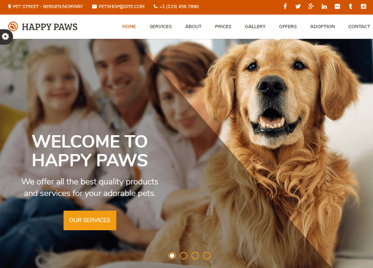 Happy Paws HTML5 Template