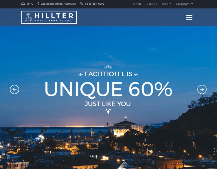 Hillter Drupal Theme