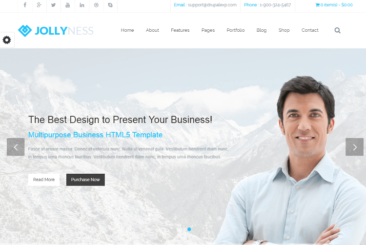 Jollyness Drupal Theme