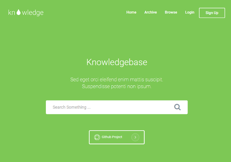 Knowledge HTML5 Template