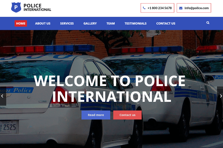 Police HTML5 Template