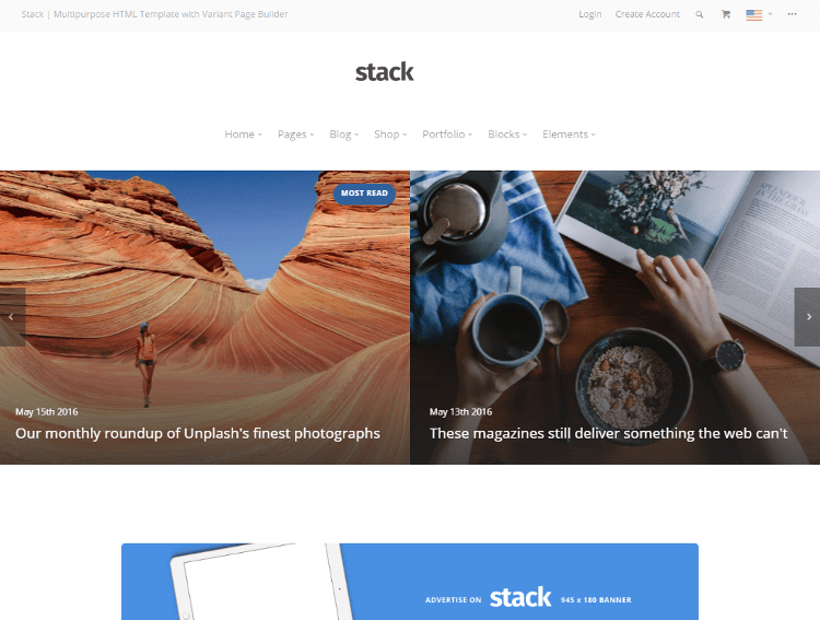 Stack Magazine HTML5 Template