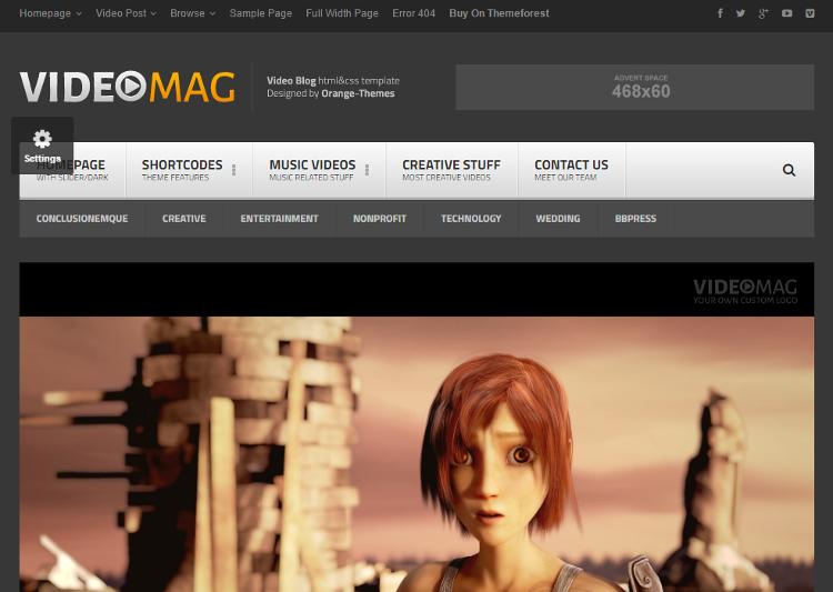 VideoMag HTML5 Template