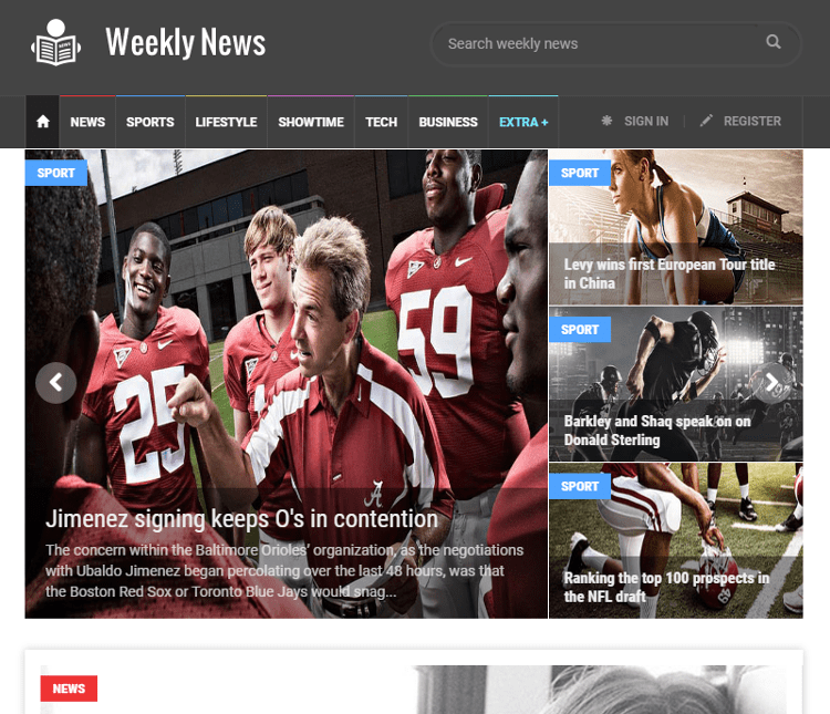 Weekly News HTML5 Template