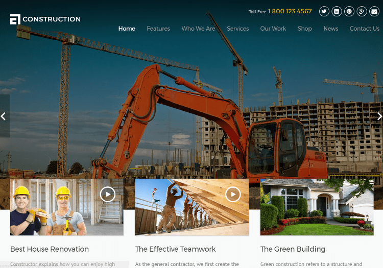 Construction Drupal Theme