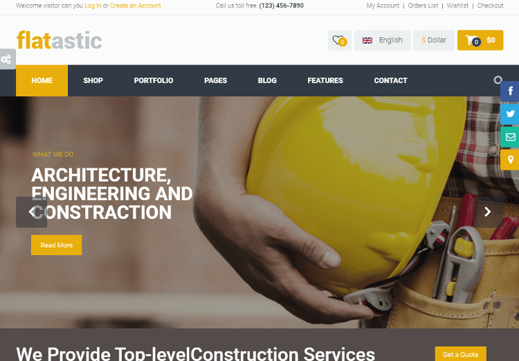 Flatastic Construction Drupal Theme
