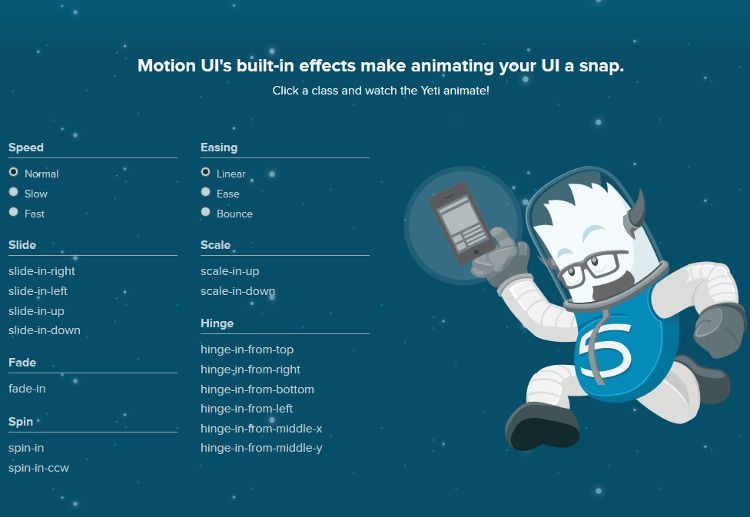 Motion UI - Create CSS Animations and Transition in Websites