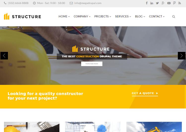 Structure Drupal Theme