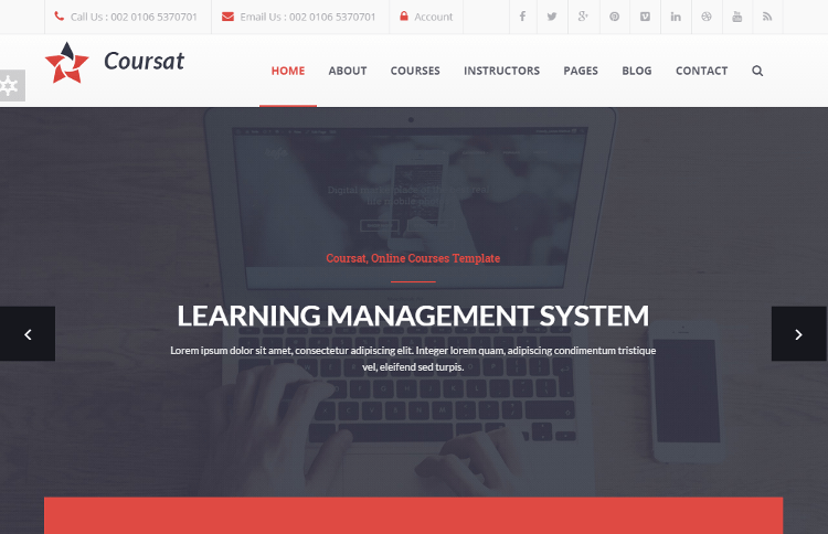 Coursat Education Drupal Theme