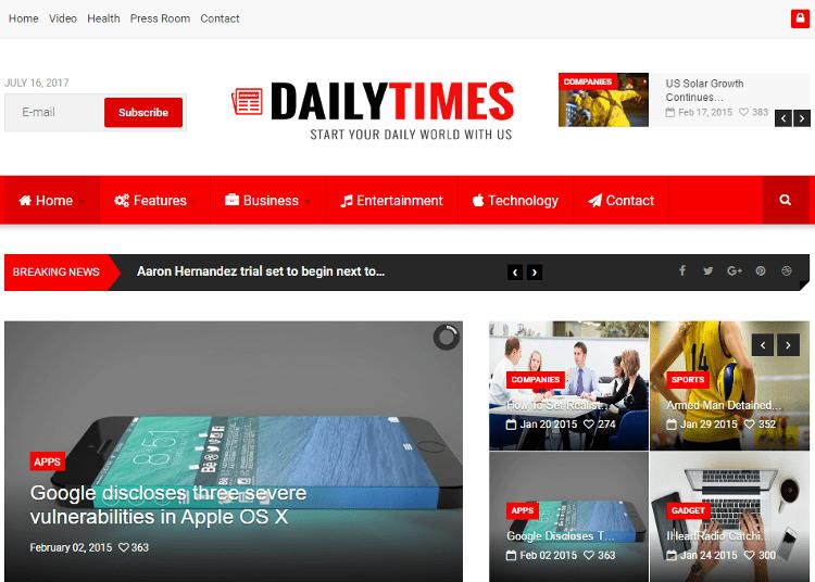 DailyTimes Joomla Template