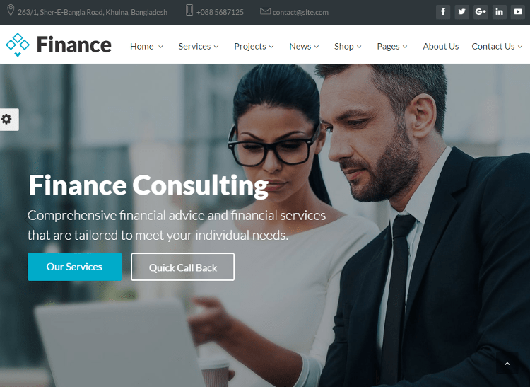 Finance Joomla Template