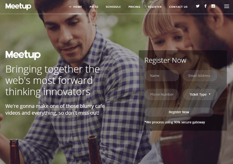 Meetup Joomla Template