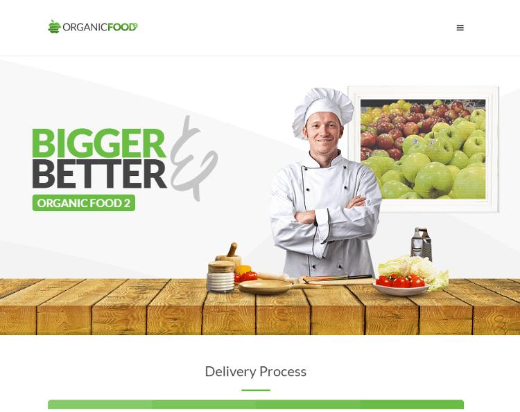 Organic Food Joomla Template