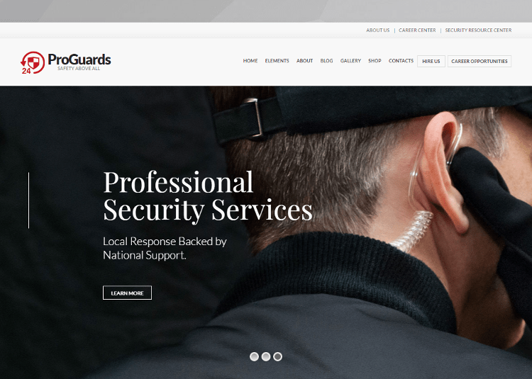 ProGuards WordPress Theme