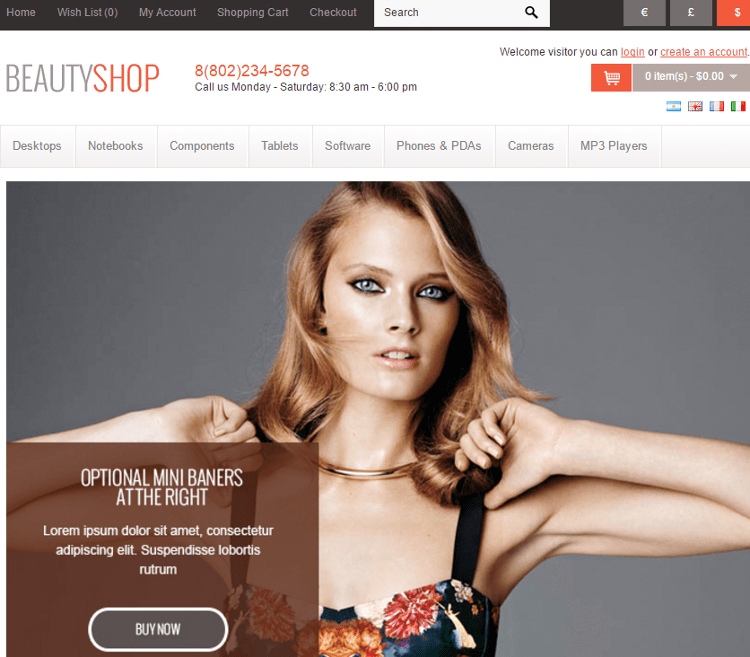 BeautyShop OpenCart Theme