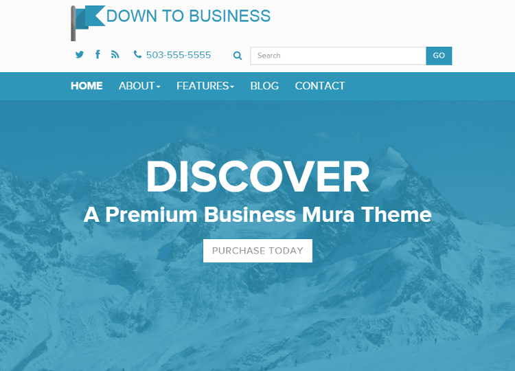 Down to Business Mura CMS Theme