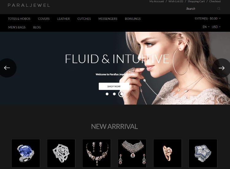 Parallax Jewelry OpenCart Theme