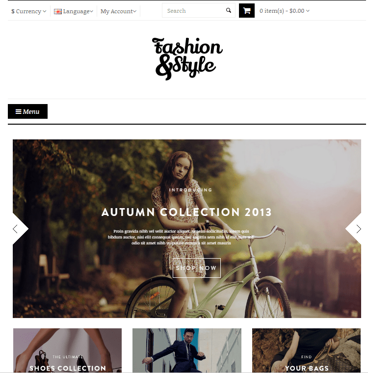 Pav Fashion OpenCart Theme